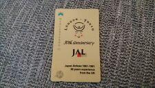 Japan JAL Airlines plane airways Mercury Telecom UK phone card British seller