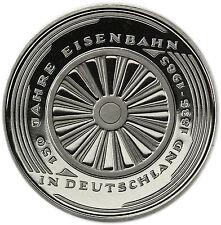 Eisenbahn polierte Platte Münzen der BRD Mark-Währung