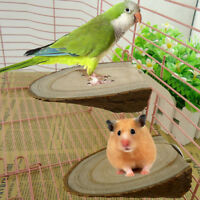 FJ- UK_ Wooden Mini Parrot Bird Cage Perches Stand Platform Pet Budgie Toy Healt