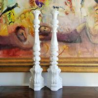 Candle holder, handmade, timber, white washed, large, decorative, dining, decor