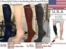 Graduated Miracle Compression Socks Nurse Anti Fatigue/Varicose Recovery Lot 3&1