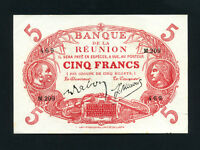 Reunion:P-14,5 Francs,1912 * French Colony * AUNC *
