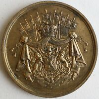 1889 Belgium Souvenir Medal For The Banquet of the Belgian Workers May 7 1889