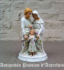 B2017929 - Sainte famille en biscuit de porcelaine polychrome - Très bon état