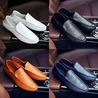Men Moccasin Driving Boat Shoes Soft Casual Fashion Leather Loafers Slip On