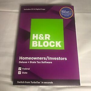 H&R Block Tax Software Deluxe and State Edition 2019 BRAND NEW