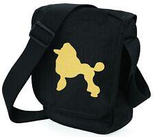More details for poodle bag metallic gold / silver on black shoulder bags birthday mothers day