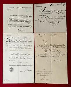 1909 ROTER ADLERORDEN 4 Klasse und Beilagen