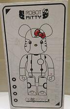 Medicom Bearbrick Be@rbrick  400% Action City Robot Hello Kitty White