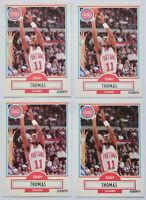 1990-91 FLEER BASKETBALL Isiah Thomas 4x Card Lot NM #61 Detroit Pistons HOF