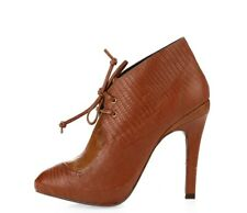 REBECCA MINKOFF Women's stylish brown leather booties shoes sz. 5.5 M NEW