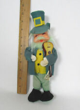 "VINTAGE IRISH MAN CHRISTMAS FIGURE 9 7/8"" TALL WITH GUITAR MADE IN JAPAN"