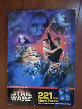 Star Wars Mural Puzzle 1997 Return Of The Jedi New In Box