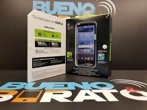 """NEW in Box SIMPLE Mobile Moto e5 Gray Prepaid 4G LTE Smartphone - 5.7"""" Display"""