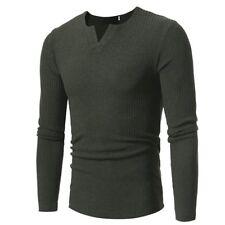 Fashion Men's Slim Fit Long Sleeve Slim T-shirts Casual Tee Shirt Tops Pullover