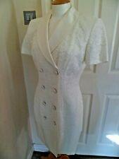 Lori Weidner Evenings at Joseph Ribkoff Ivory Coat Dress UK 10 Worn Once