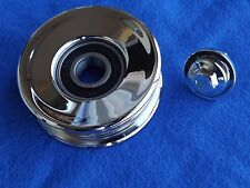 "Chrome OEM 99-04 Mustang GT Cobra Saleen 3"" Grooved Idler Pulley & Bolt, 4.6"