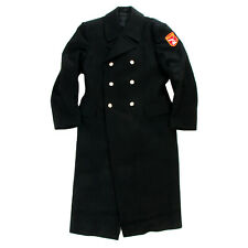 Russian Army Wool Overcoat Genuine Issue Black Cadet Winter Coat Size 36