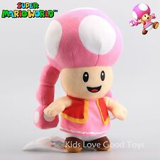 Super Mario 11in Toadette Plush Female Girl Toad Nintendo Maid Stuffed Doll Toy