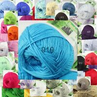 Sale 1 Skein x50gr Soft Bamboo Cotton Baby Wrap DIY Hand Knitting Crochet Yarn