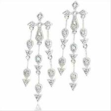 Sterling Silver CZ Cubic Zirconia Chandelier Earrings