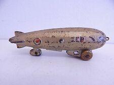 Antique Dent Cast Iron Toy Zep Zepplin Blimp Original Paint Vintage