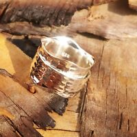 Solid 925 Sterling Silver Wide Band  Spinner Ring Jewelry Handmade All Size DO-5