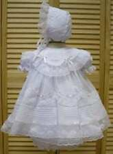 Will'beth Gorgeous Newborn Baby Girl Fancy Portrait Dress Lace Bonnet NWT Sz 0