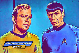 Star Trek Comic Icons Art Print (Available In 4 Formats)