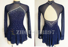 New Ice Figure Skating Dress Figure skaitng Dress For Competition Navy classic