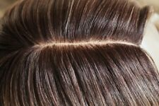 Ombre Perücke lace an front mittelbraun braun blond lang hautimitat skin silk