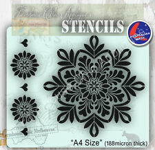 Mylar Furniture Stencil 19.5cm Mandala, Wall Stencil, Shabby Chic French Stencil