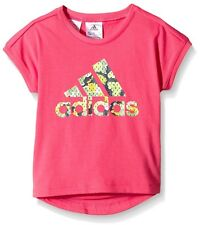 Kids Girls adidas Rock It T Shirt Multi Coloured Pink Size 2-3 Years