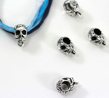 Skull Bail, TierraCast, Silver Plated Antiqued Pewter, 2 Pieces, 2912