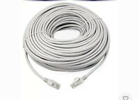 20m Meter RJ45 Cat5e Network LAN Cable UTP Ethernet Patch Lead Grey Fast Cat 5e