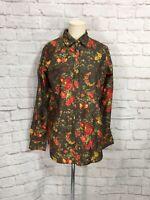 Vintage Dolce & Gabbana Floral Flowers Women's Button Down Blouse Top Size 42