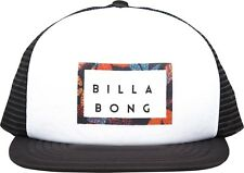BILLABONG MENS BASEBALL CAP.UPGRADE FLAT PEAK MESH WHITE TRUCKER HAT 8S T01 10