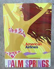 Palm Springs California Desert Bikini Girl Vintage Travel Poster Sign Home Decor