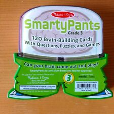 Melissa & Doug SmartyPants Grade 3 - 120 Brain Building Cards w/ Questions NEW