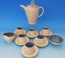 SUPERB SUSIE COOPER COFFEE SET - STARBURST PATTERN 1688 TURQUOISE BLUE