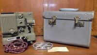 Eumig Wien Type P8 Vintage Movie Projector with Case, Power Cord and Reel