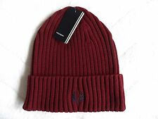 FRED PERRY Rosewood Cuff Beanie Toque Hat OSFA New Tags Genuine Original Tags