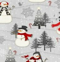 SNOWY WISHES SNOWMEN Cotton Print by Wilmington Prints BTY