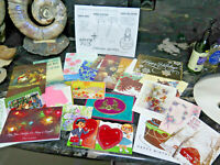 LOT of 24 Greeting Cards Crafts Varied Brands Mixed Occasion USED Vintage