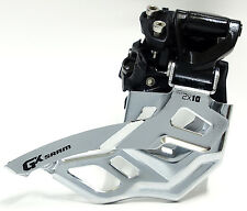 SRAM GX 2x10 Spd High Clamp 36/38T Top Pull Front Derailleur Fit X0 X9 X7 Group.