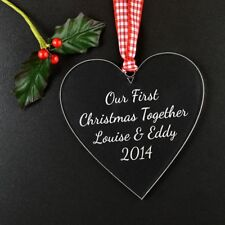 Our First Christmas Together As Mr And Mrs Personalised 1st Christmas Married