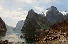 Fjord Landscape With Figures Askevold Monsen Anders  24'  CANVAS