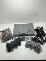 Playstation 1 Console W/5 Games, 2 Controllers, 2 Memory Cards Works Great! PS1
