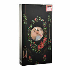 Black Floral  6'x4 'Photo Album Slip In Case Album for 300 photos
