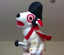 TARGET DOG ELVIS PRESLEY PLUSH BULLSEYE DOG PUPPY LAS VEGAS COSTUME DOLL TOY